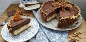 Cheesecake crocante com mousse de chocolate